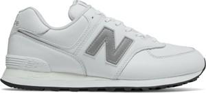 Buty sportowe New Balance w street stylu ze skóry sznurowane