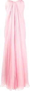 Różowa sukienka Alexander McQueen maxi bez rękawów