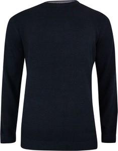 Granatowy sweter Adriano Guinari w stylu casual