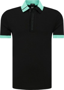 Czarna koszulka polo Boss Athleisure