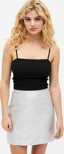 Srebrna spódnica Monki mini