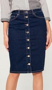 Spódnica Mohito w street stylu midi z jeansu