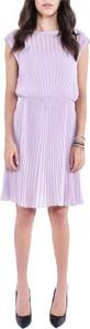 Fioletowa sukienka Patrizia Pepe z okrągłym dekoltem mini