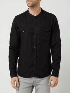 Czarna koszula Tigha z długim rękawem
