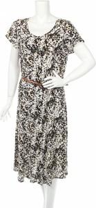 Sukienka Julipa z okrągłym dekoltem w stylu casual