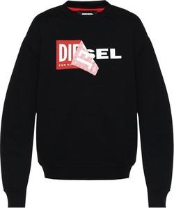 Czarna bluza Diesel z bawełny