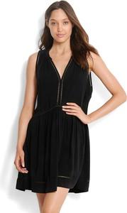 Czarna sukienka Seafolly z dekoltem w kształcie litery v mini