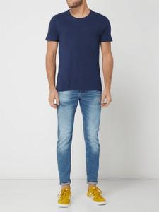 Niebieski t-shirt Nowadays z krótkim rękawem w stylu casual
