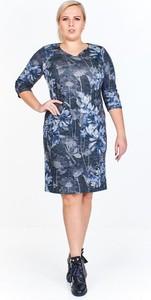 Sukienka Fokus midi z długim rękawem