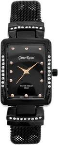 ZEGAREK DAMSKI GINO ROSSI - 6941B (zg629e) + BOX - Czarny