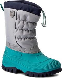 Błękitne buty dziecięce zimowe cmp z tworzywa sztucznego
