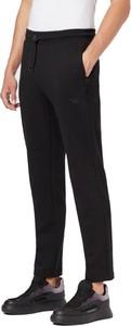 Czarne spodnie Emporio Armani z bawełny