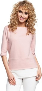 Różowa bluzka Merg w stylu casual