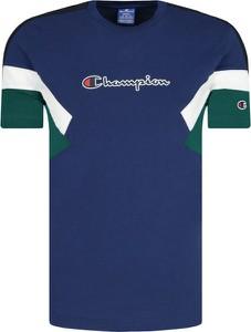 Niebieski t-shirt Champion z krótkim rękawem