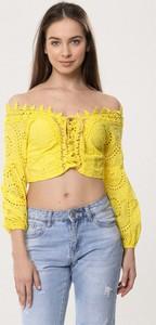 Żółta bluzka born2be z długim rękawem