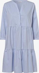 Niebieska sukienka Marie Lund z długim rękawem mini