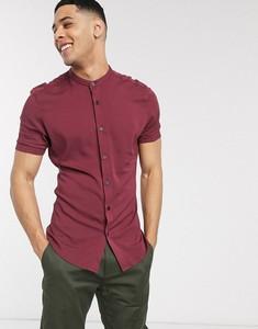 Czerwona koszula Asos ze stójką