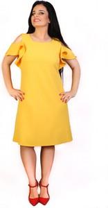 639db4555a żółta sukienka trapezowa. - stylowo i modnie z Allani