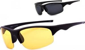 Stylion Okulary z dwoma soczewkami polaryzacyjnymi czarna i żółta - drs-54c2