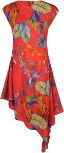 Sukienka Pinko bez rękawów w stylu casual asymetryczna