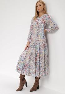 Sukienka born2be w stylu casual z długim rękawem maxi