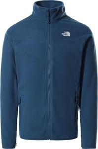 Niebieska bluza The North Face w sportowym stylu z polaru