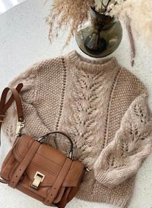 Brązowy sweter Sandbella w stylu casual