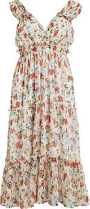 Sukienka Vila oversize z dekoltem w kształcie litery v na ramiączkach