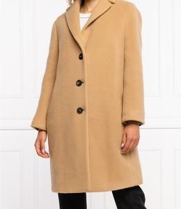 Brązowy płaszcz Peserico