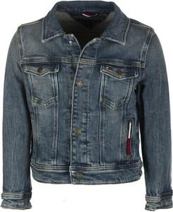 Granatowa kurtka dziecięca Tommy Hilfiger z jeansu