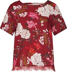 Czerwona bluzka Only z okrągłym dekoltem