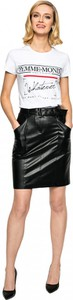 Czarna spódnica L'AF ze skóry ekologicznej