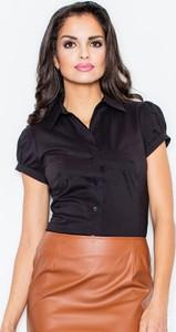Czarna koszula Figl z bawełny