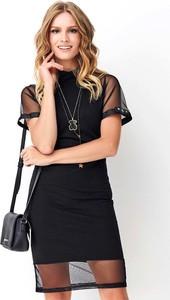 Czarna sukienka Makadamia oversize mini