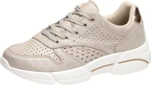 Buty sportowe Suzana ze skóry sznurowane