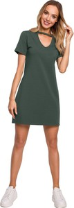 Zielona sukienka MOE w stylu casual mini