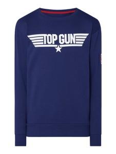 Granatowa bluza Top Gun z bawełny w młodzieżowym stylu