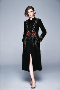 Czarny płaszcz Kaimilan w stylu casual