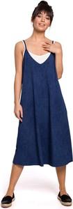 Sukienka MOE na ramiączkach z bawełny
