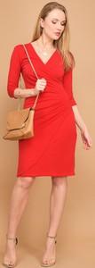 Czerwona sukienka Un Coeur En Ete midi