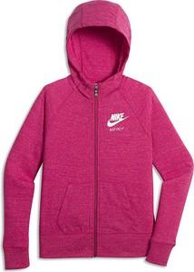 Różowa bluza dziecięca Nike z bawełny