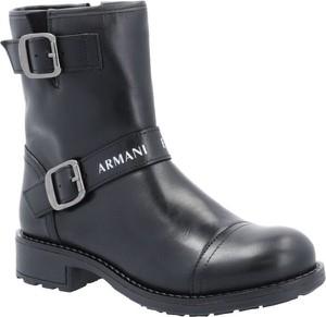 Botki Armani Jeans w stylu casual na zamek
