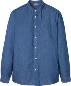 Niebieska koszula bonprix z długim rękawem w stylu casual
