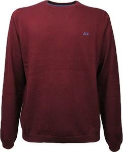 Czerwony sweter Sun 68 z bawełny