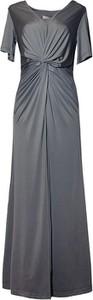 Sukienka TOVA z krótkim rękawem maxi prosta