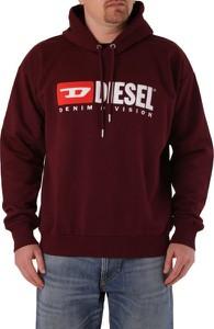 Czerwona bluza Diesel z bawełny