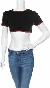 Bluzka Missguided z okrągłym dekoltem w stylu casual z krótkim rękawem