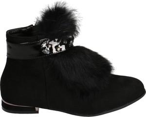 Czarne botki Vices na zamek w stylu casual z płaską podeszwą