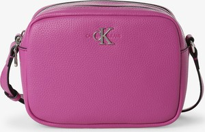 Różowa torebka Calvin Klein na ramię matowa