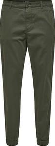 Zielone spodnie Only & Sons w stylu casual z bawełny